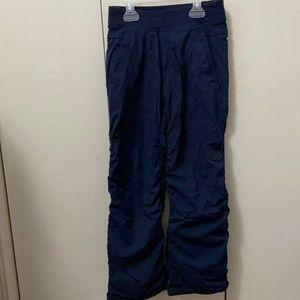 Ivivva Navy Blue Striped Studio Pants